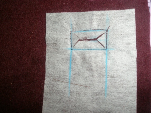 cut inside rectangles to create openings