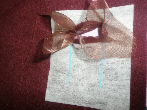 turn organdy and cut triangles to the inside and press