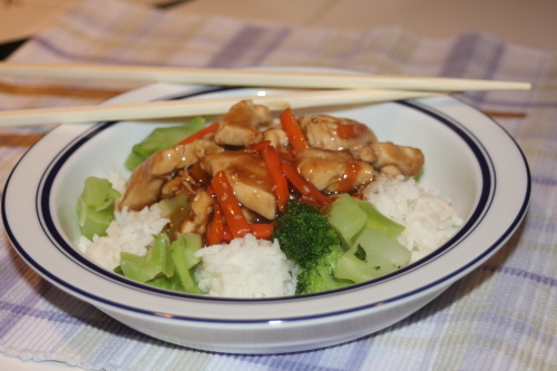 chicken teriyaki rice bowls