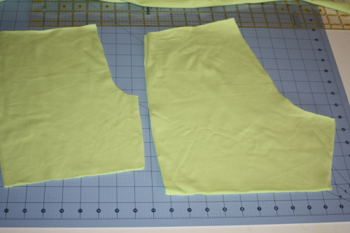 cut out the fabric pieces