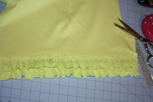 sew the 2nd row of ruffles