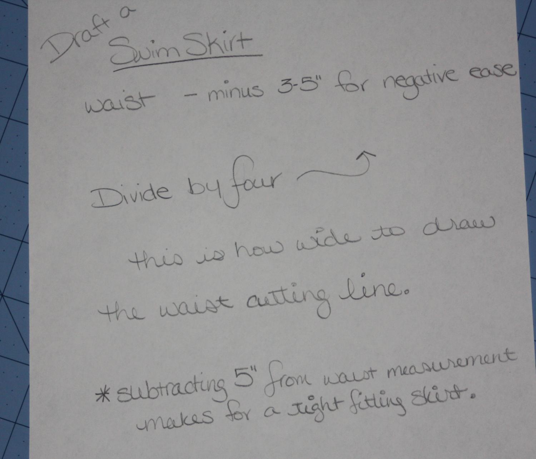 Avery Lane Blog: how to draft a swim skirt pattern