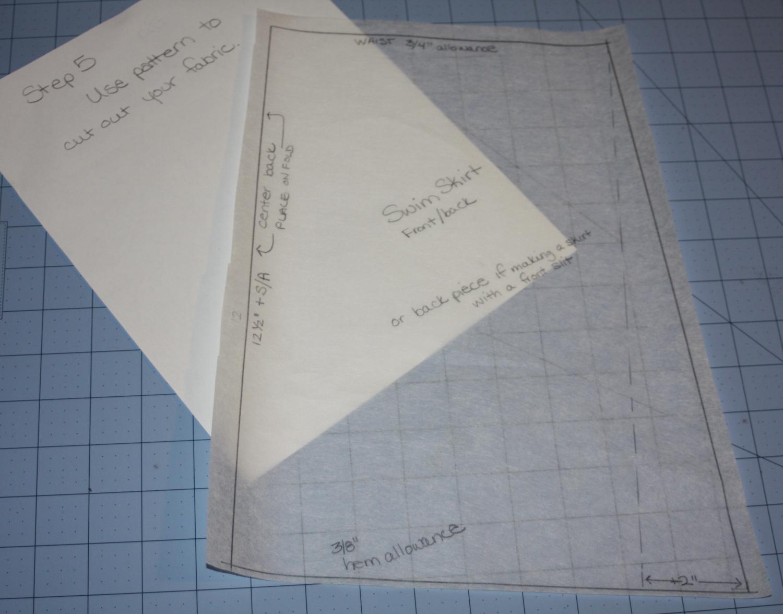 Avery Lane swim skirt drafting tutorial